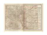 Plate 109. Map of Colorado. United States Gicléedruk van  Encyclopaedia Britannica