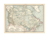 Map of the Dominion of Canada and Newfoundland Giclee Print