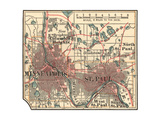 Inset Map of Minneapolis and St. Paul, Minnesota Giclee Print by  Encyclopaedia Britannica
