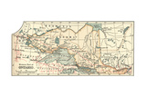 Inset Map of the Western Part of Ontario, Canada Giclee Print