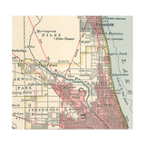 Map of the Northside of Chicago (C. 1900), Maps Giclee Print