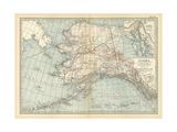 Map of Alaska. United States. Inset Maps of Sitka, and Aleutian Islands Gicléedruk van  Encyclopaedia Britannica