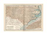 Plate 78. Map of North Carolina. United States Giclee Print