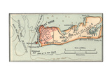 Inset Map of Key West Island, Florida Giclee Print by  Encyclopaedia Britannica