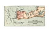 Inset Map of Key West Island, Florida Giclee Print