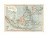 Map of East India Islands. Malaysia and Melanesia. Dutch East India Gicléedruk van  Encyclopaedia Britannica
