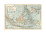 Map of East India Islands. Malaysia and Melanesia. Dutch East India Impressão giclée por  Encyclopaedia Britannica