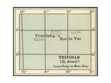 Plate 121. Inset Map of Trinidad and Martin Vas Giclee Print by  Encyclopaedia Britannica