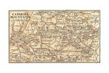 Inset Map of the Catskill Mountains, New York Gicléedruk van  Encyclopaedia Britannica