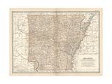 Plate 86. Map of Arkansas. United States Giclee Print by  Encyclopaedia Britannica