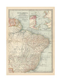 Plate 123. Map of South America Giclee Print by  Encyclopaedia Britannica