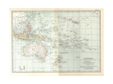 Plate 49. Map of Oceanica (Oceania). Australia Giclee Print by  Encyclopaedia Britannica