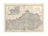 Plate 82. Map of Kentucky. United States Gicléedruk van  Encyclopaedia Britannica