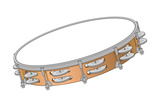 Tambourine, Percussion, Musical Instrument Photo by  Encyclopaedia Britannica