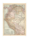 Plate 122. Map of South America Giclee Print by  Encyclopaedia Britannica