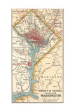 Map of Washington D.C. (C. 1900), Maps Giclee Print by  Encyclopaedia Britannica