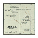 Plate 52. Inset Map of Ellice Islands (British) Giclee Print by  Encyclopaedia Britannica