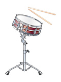 Snare Drum and Drumsticks, Percussion, Musical Instrument Prints