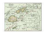 Inset Map of Fiji Islands (British). South Pacific. Oceania Gicléedruk van  Encyclopaedia Britannica