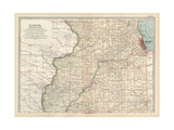 Map of Illinois, Northern Part. United States Giclee Print by  Encyclopaedia Britannica