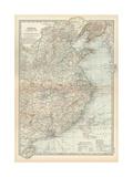 Map of China, Eastern Part Gicléedruk van  Encyclopaedia Britannica