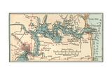 Inset Map of Jacksonville, Florida Gicléedruk van  Encyclopaedia Britannica