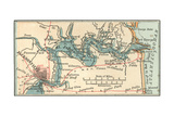 Inset Map of Jacksonville, Florida Giclee Print