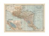 Plate 120. Map of Central America. Guatemala Lámina giclée por  Encyclopaedia Britannica