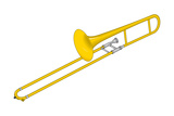 Trombone, Brass, Musical Instrument Prints