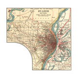 Map of St. Louis (C. 1900), Maps Giclee Print by  Encyclopaedia Britannica