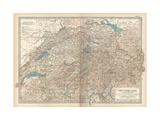 Plate 27. Map of Switzerland Gicléedruk van  Encyclopaedia Britannica