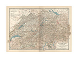 Plate 27. Map of Switzerland Giclee Print by  Encyclopaedia Britannica