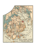 Inset Map of Mount Desert Island, Maine Giclee Print by  Encyclopaedia Britannica
