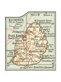 Inset Map of Mauritius (Ile De France) (British) Giclee Print