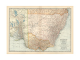 Plate 51. Map of Australia. South-East Part. Victoria Giclee Print by  Encyclopaedia Britannica