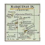 Inset Map of Marquesas Islands (French). Oceania. South Pacific Giclee Print by  Encyclopaedia Britannica