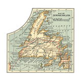Plate 63. Inset Map of Newfoundland. Canada Giclee Print
