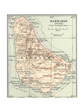 Plate 118. Inset Map of Barbados (British) Giclee Print by  Encyclopaedia Britannica