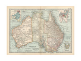 Plate 50. Map of Australia. Insets of Melbourne and Port Phillip Giclee Print by  Encyclopaedia Britannica