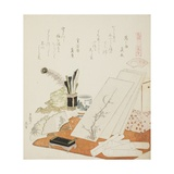 The Studio, Illustration for the White Shell (Shiragai), 1821 Giclee Print by Katsushika Hokusai