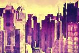 Midtown Buildings Giclee Print by Philippe Hugonnard