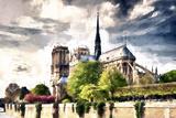 Notre Dame de Paris Giclee Print by Philippe Hugonnard