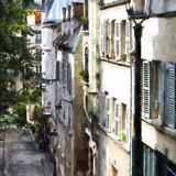 Parisian Street Montmartre Giclee Print by Philippe Hugonnard