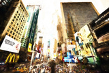 Late Afternoon in Times Square Giclee Print by Philippe Hugonnard
