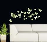 Papillons phospho Adhésif mural