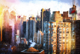 Times Square Buildings Giclee Print by Philippe Hugonnard