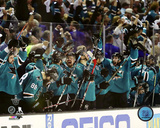 2016 San Jose Sharks Western Conference Finals Game Six Celebration Photo