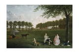 Sir John Shaw and His Family in the Park at Eltham Lodge, Kent, 1761 Giclee Print by Arthur Devis