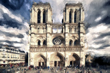 Notre Dame Cathedral Giclee Print by Philippe Hugonnard