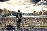 Saxophonist Paris Giclee Print by Philippe Hugonnard